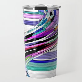 Melting Colors Of Summer Abstract Travel Mug