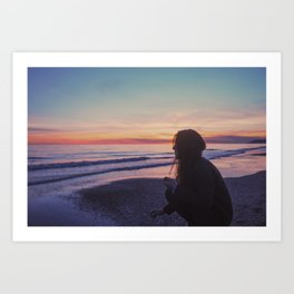 Sunset routine Art Print