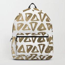 Elegant faux gold modern triangles shapes pattern Backpack