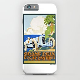 1929 Cap D'Antibes France Grand Prix Racing Poster  iPhone Case
