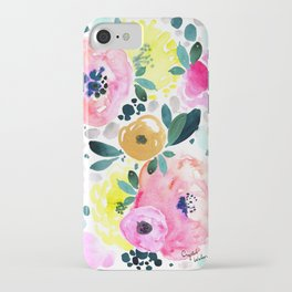 Wake Up Floral iPhone Case