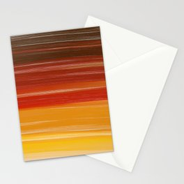 Abstract brown orange yellow sunset brushstrokes Stationery Cards