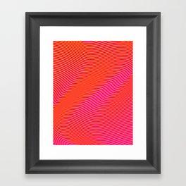 Fancy Curves Framed Art Print