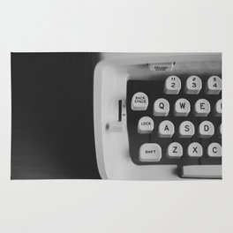 You're The Only One Missing // Vintage Black and White Typewriter Keys Rug