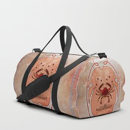 Decorative crab in red colors Duffle Bag