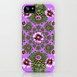Lilac Purple Abstract Dahlias Garden Art iPhone Case