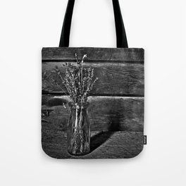 Milk Bottle Vase B&W Tote Bag