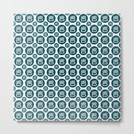 Digix Dao - Creative Crypto Pattern Art (Small) Metal Print