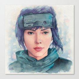 The Major (Scarlett Johansson) Canvas Print