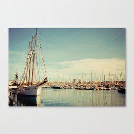 Port Vell Barcelona Canvas Print