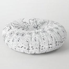 Mandala001 Floor Pillow