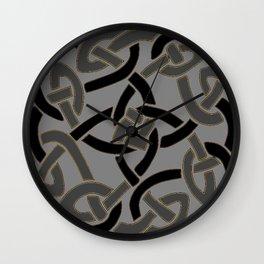 Charcoal Grey Color Celtic Art Wall Clock