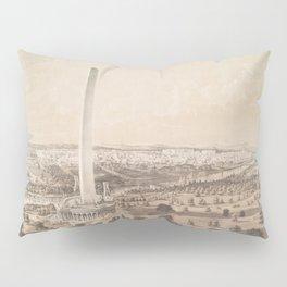 Vintage Pictorial Map of Washington DC (1852) Pillow Sham