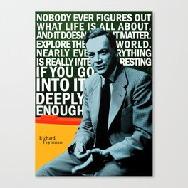 Richard Feynman Quote 1 Canvas Print