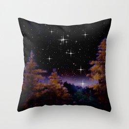 My world at night. Throw Pillow