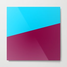 Simple Line of Color Metal Print