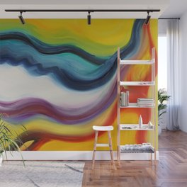 """""""Wind"""" Original oil finger painting by Monika Toth Wall Mural"""