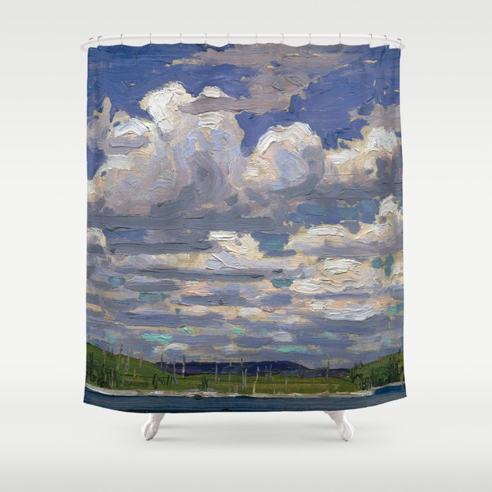 Tom Thomson - Summer Day - Canada, Canadian Oil Painting - Group of Seven Shower Curtain