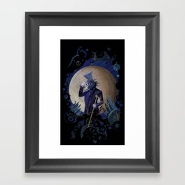 steampunk crow time keeper Framed Art Print
