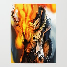 the power of fire on sabo Poster