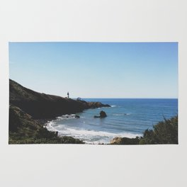Yaquina Head Lighthouse Couple Rug