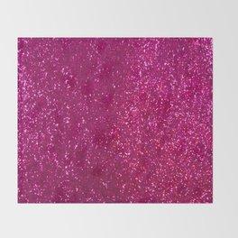 Glamours Fuchsia Glitter Throw Blanket
