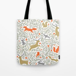 Woodland Animals Folk Tote Bag
