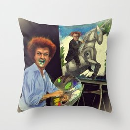Steve Brule paints Throw Pillow