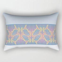 Leafy lavender Nouveau stripe Rectangular Pillow