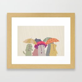 Umbrella Folks Framed Art Print