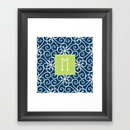 Monogram Shower Curtain Framed Art Print
