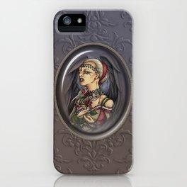 Marooned - Gothic Angel Portrait iPhone Case