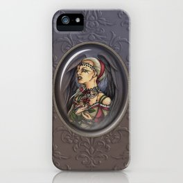 Marooned - Gothic Angel Portrait iPhone Case