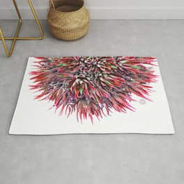Cactus Crown 1. Red & Green on White #decor #Christmas Rug
