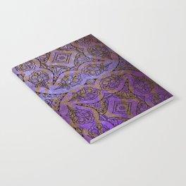 408 3 Purple Pattern Notebook