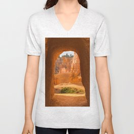 Doorway Bryce Canyon Utah, United States Unisex V-Neck
