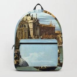 Canaletto Bernardo Bellotto - The Entrance To The Grand Canal, Venice Backpack