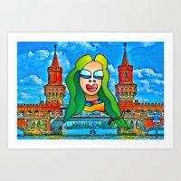 Berlin Lady Art Print