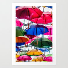 Colorful Umbrellas Art Print