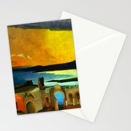 Taormina, Sicily Greek Ruins at Sunset by Csontvary Kosztka Tivadar Stationery Cards
