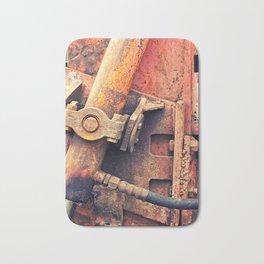 Old rusty iron piece Bath Mat