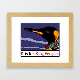 K is for King Penguin Framed Art Print