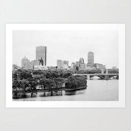 Black & White Boston Skyline III Art Print