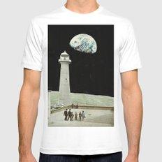 moon White Mens Fitted Tee MEDIUM
