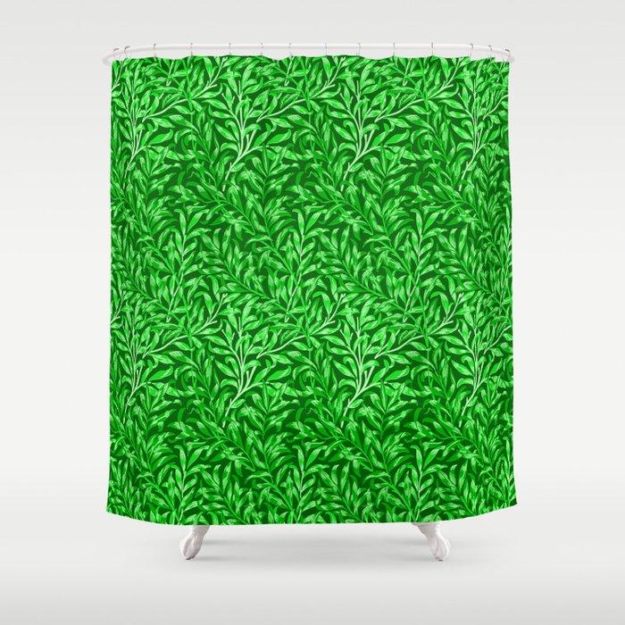William Morris Willow Bough, Emerald Green Shower Curtain