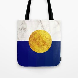 Navy blue with white marble #society6 Tote Bag