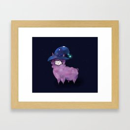 Witch Alpaca Framed Art Print