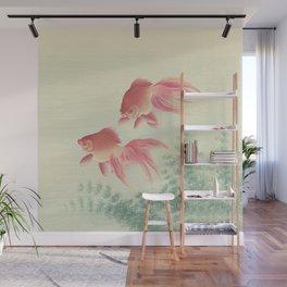 Goldfish Vintage Japanese Woodblock Print Wall Mural