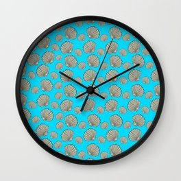 Cockle pattern, sea Wall Clock