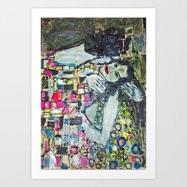 THE KISS FOR ADRIANA Art Print